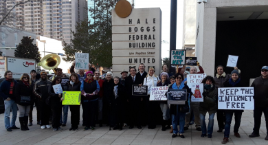 New Orleans Net Neutrality protest