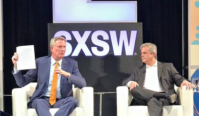 Mayor Bill de Blasio at South by Southwest